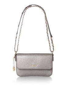 Saffiano small flap over cross body bag
