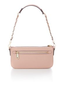 Saffiano light pink cross body with chain handle