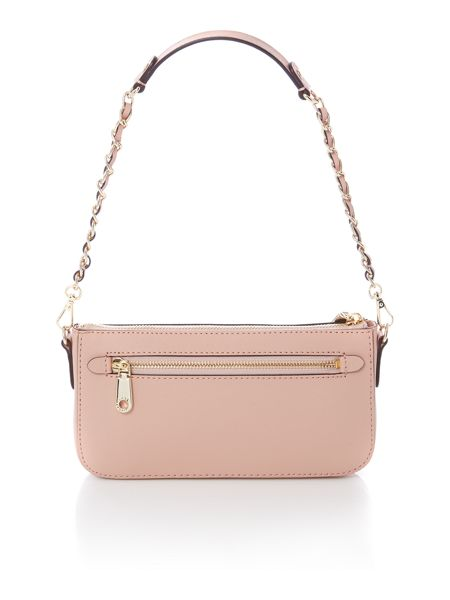 DKNY Saffiano light pink cross body with chain handle
