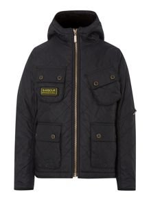 Boys International Paxton hooded qilted jacket