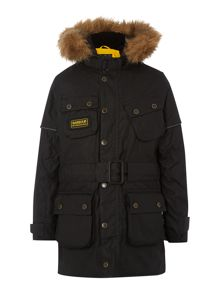 Barbour Boys International parka with hood