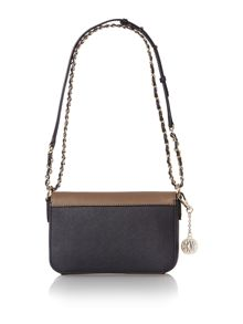 Saffiano multi small flap over cross body bag