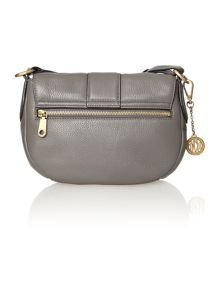 Crosby grey flap over cross body bag