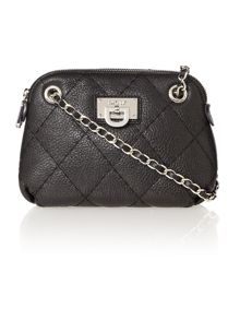 Gansevoort black small quilted rounded cross body