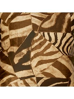 Victoria falls zebra brown double fitted sheet