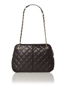 Gansevoort black medium quilted rounded crossbody