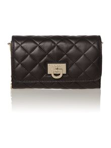Gansevoort black small flap over crossbody