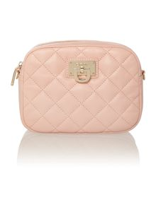 Gansevoort pink quilted camera bag crossbody