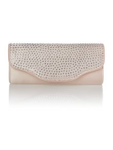 Dia satin clutch bag
