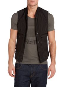 Padded sleeveless jacket