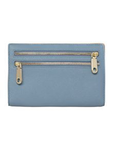 Saffiano light blue organizer