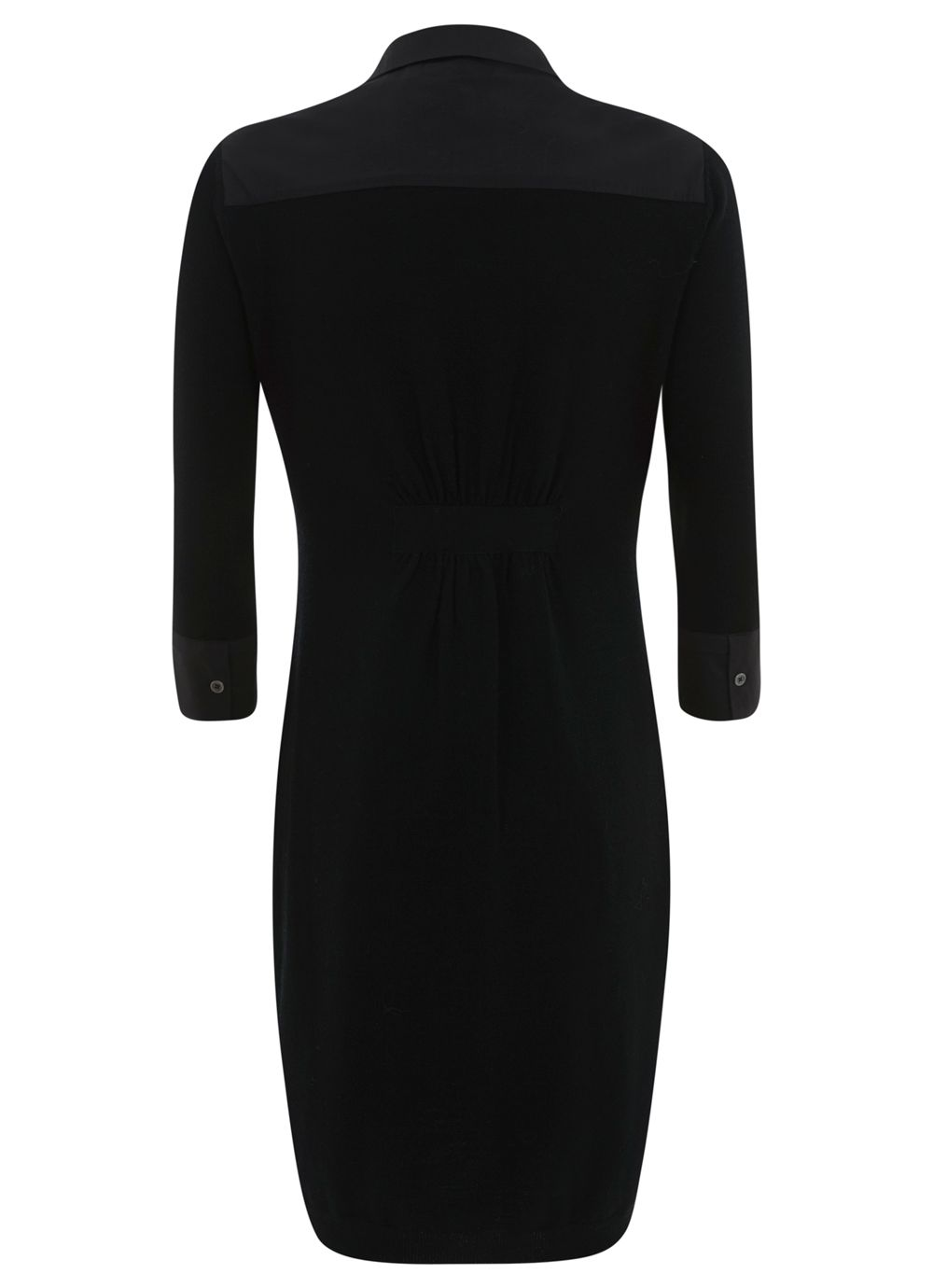 Black Shirt Knit Dress