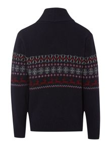 Boys Country Lewis shawl neck jumper