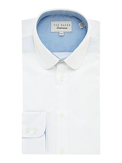 Rosecol Plain Penny Collar Slim Fit Shirt