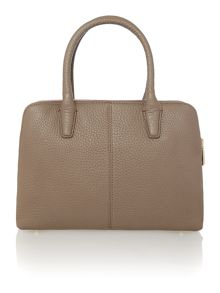 Tribeca tan double zip satchel handbag