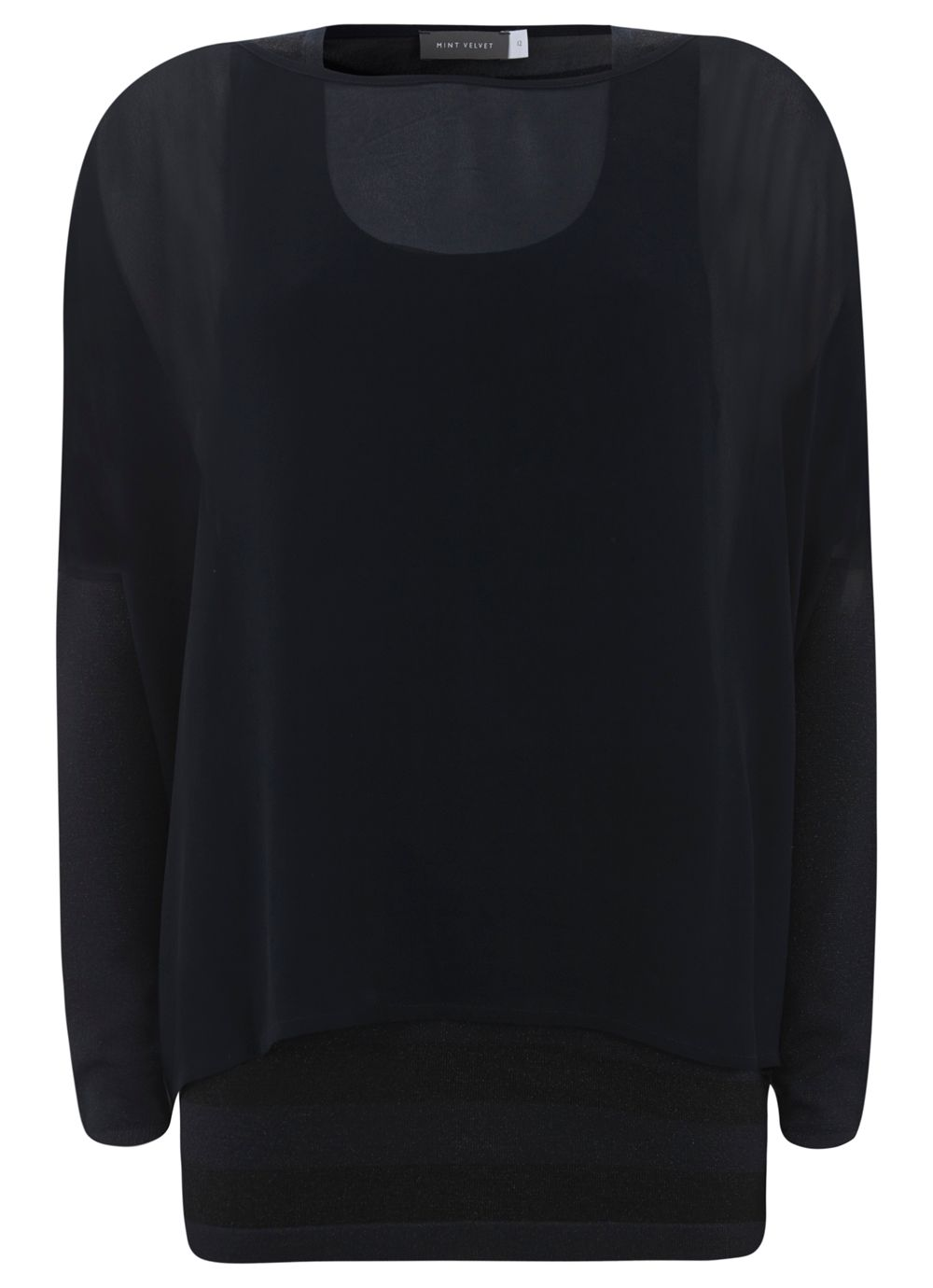 Navy & Black Double Layer Knit