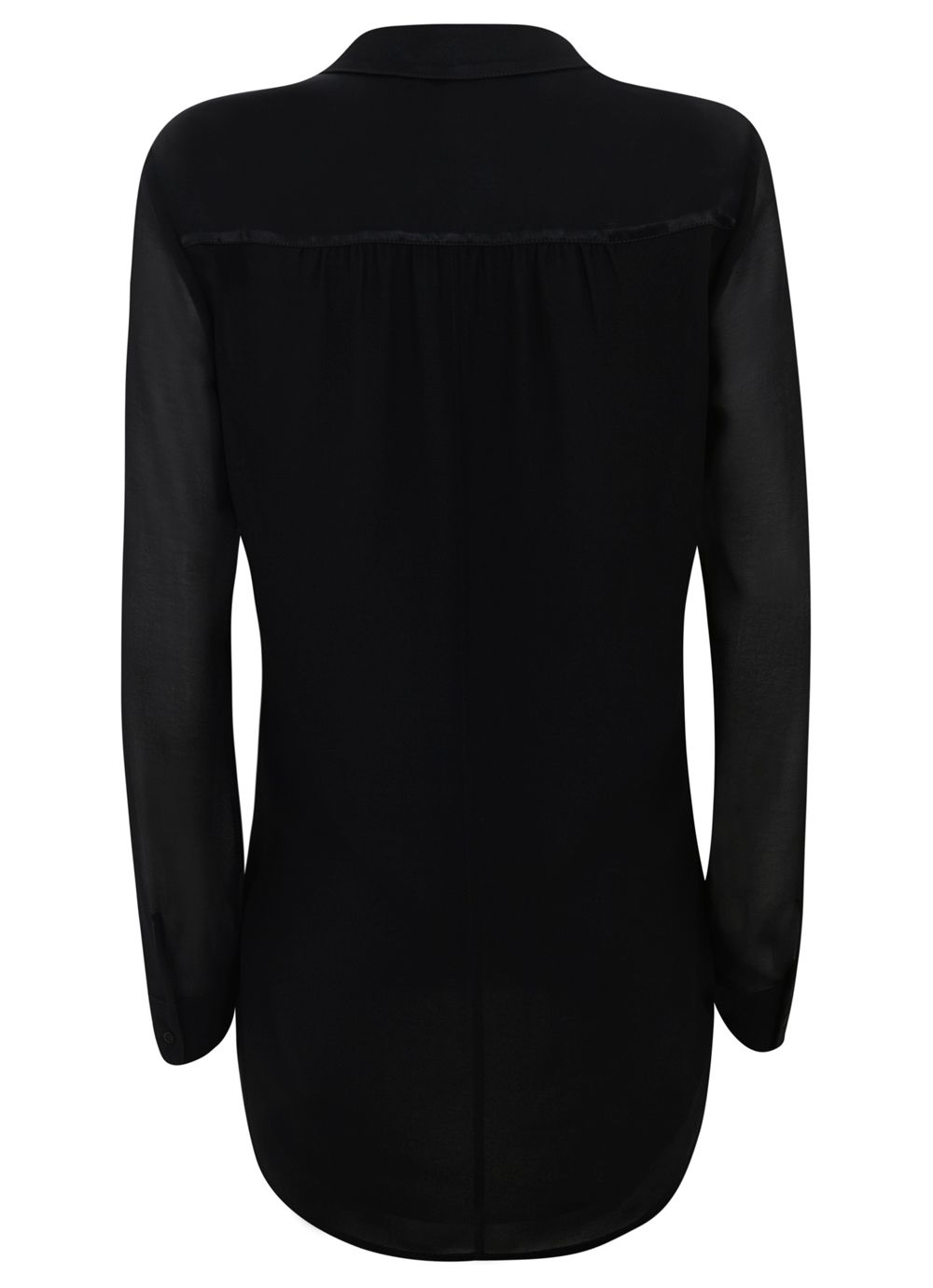 Black Double Fronted Shirt