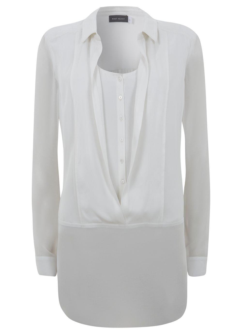 Ivory Double Fronted Shirt
