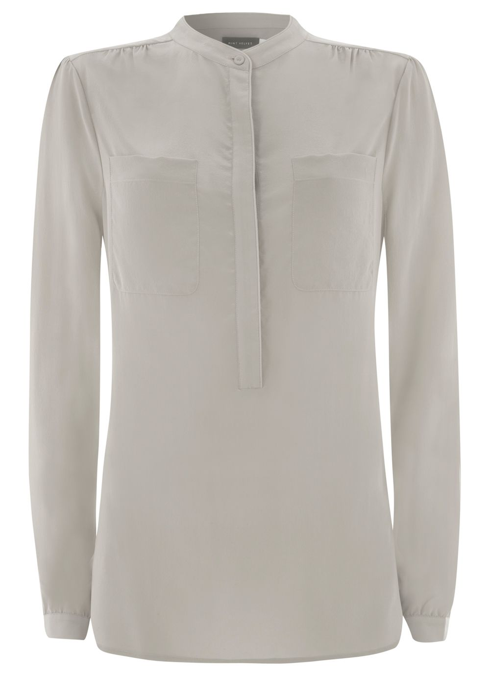 Neutral Silk Crepe Blouses