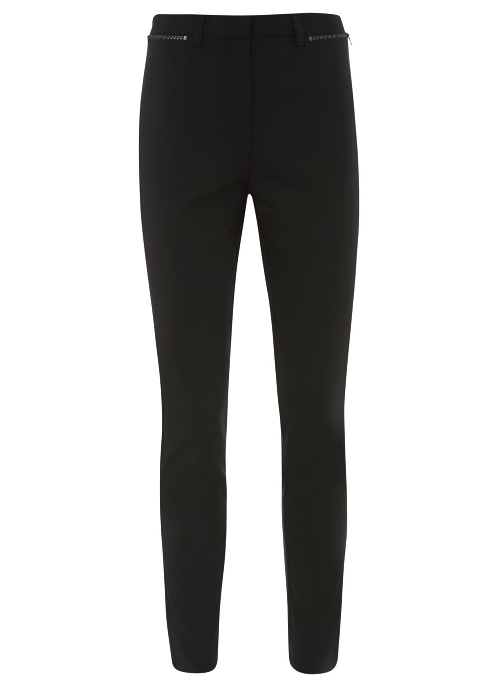 Black Zip Skinny Trouser