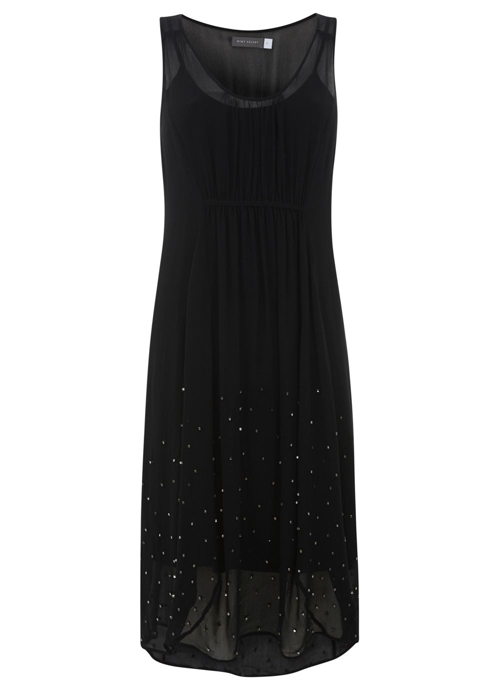 Black Bead Cocoon Dress