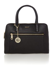 Tribeca black double zip satchel handbag