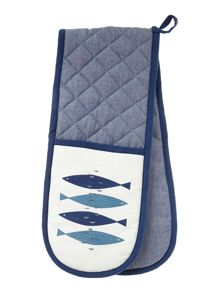 Seascape double oven glove