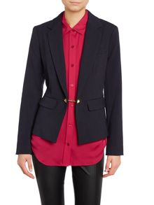 Peplum jacket with toggle