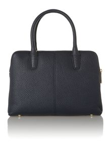 Tribeca navy double zip satchel handbag