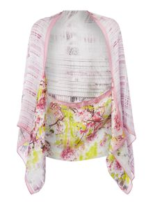 Window blossom silk cape