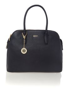 Tribeca black triple zip satchel handbag