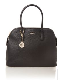 Tribeca navy triple zip satchel handbag
