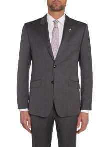 Mitten Textured Grid Slim Fit Suit Jacket