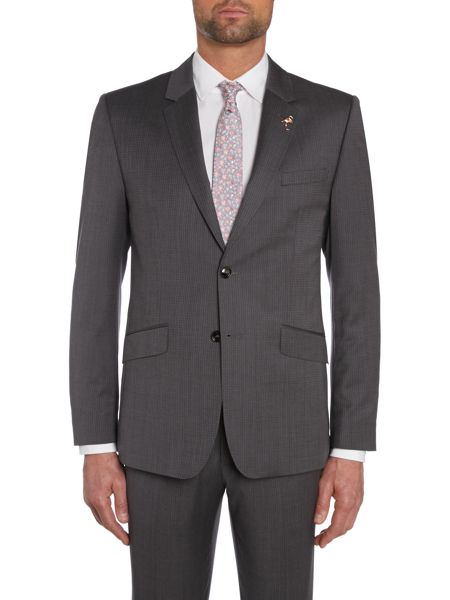 Ted Baker Mitten Textured Grid Slim Fit Suit Jacket