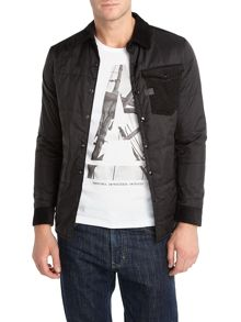 Padded overshirt jacket