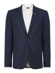 Debonair Slim Fit Textured Jacket