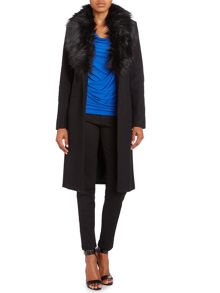 Michael Kors Wool tailored coat with faux fur collar