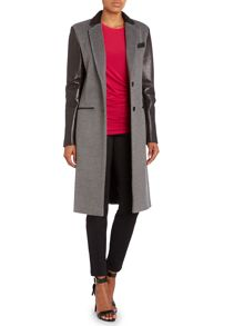 Wool tailored combo coat