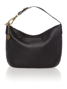 Crosby black large hobo handbag