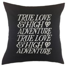 True Love Cushion in Black 45x45