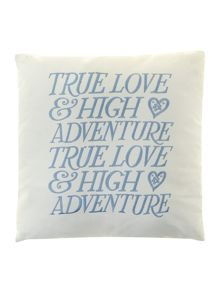 True Love 45x45 cushion in blue