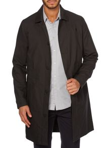 Funnel neck trench coat