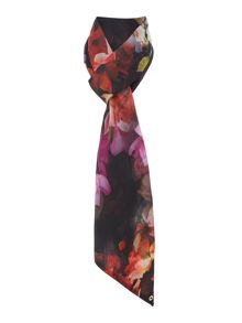 Cascading floral skinny scarf