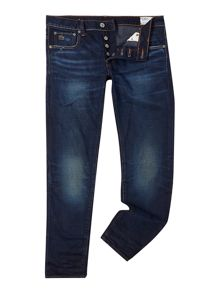 3301 low tapered dark wash jean