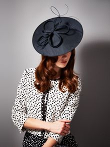 Cara silk disc fascinator