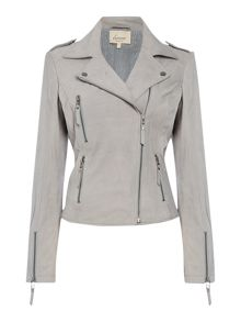 Dove grey nubuck jacket