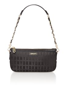 Saffiano black small chain shoulder bag