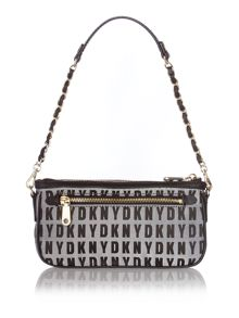 Saffiano white small chain shoulder bag