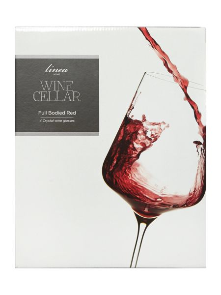 Linea Wine cellar red wine crystal glass set of 4
