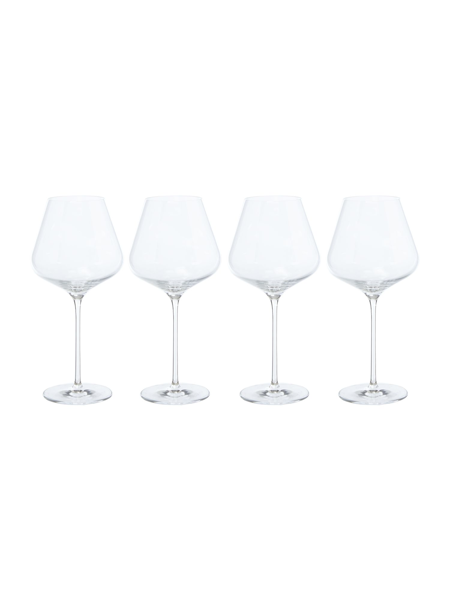 Linea Wine cellar crystal red wine glasses set of 4